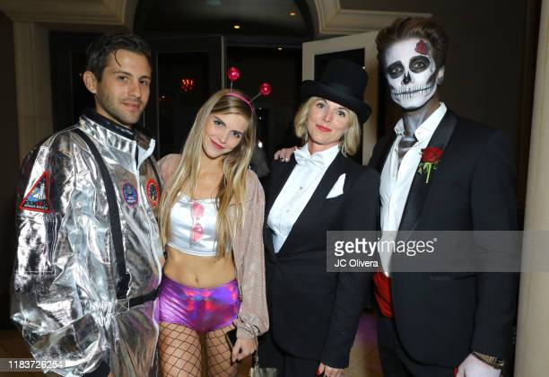 Jacob Busch and guests attend Adrienne Maloof and Vivica A Fox Haunted Mansion Party on October 26 2019 in Beverly Hills California