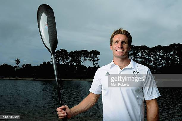 Jacob Clear poses during the Australian Canoe/KayakSprint 2016 Olympic Games Team Announcement at Mermaid Beach on March 16 2016 on the Gold Coast...