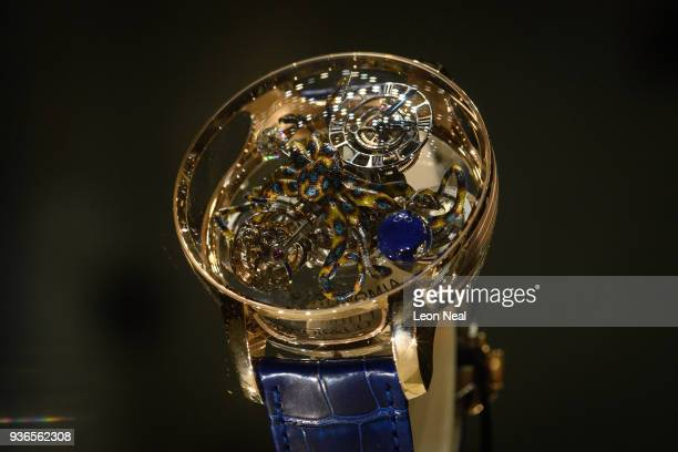 Jacob Co 'Astronomia Octopus' is seen at the BaselWorld watch fair on March 22 2018 in Basel Switzerland The annual watch trade fair sees the very...