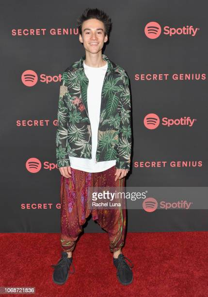 Jacob Collier attends Spotify's 2nd Annual Secret Genius Awards at The Theatre at Ace Hotel on November 16 2018 in Los Angeles California