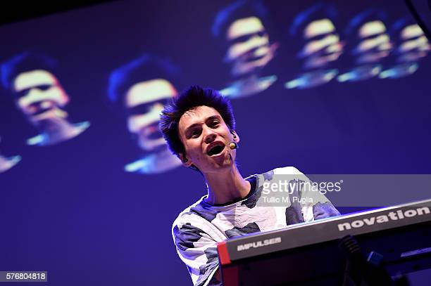 Jacob Collier performs during Locus Festival 2016 on July 17 2016 in Locorotondo near Bari Italy