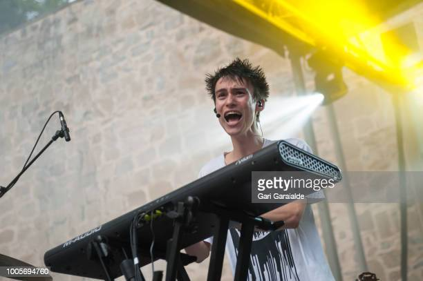Jacob Collier performs with Jacob Collier quartet onstage during 53rd edition of Heineken Jazzaldia Festival on July 26 2018 in San Sebastian Spain