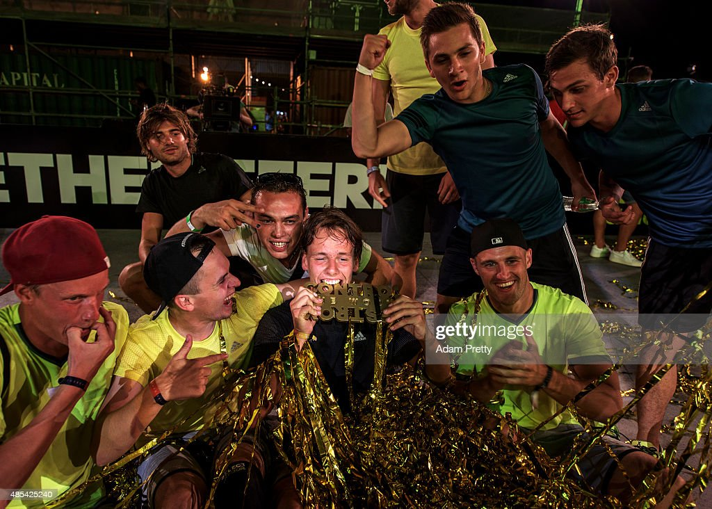 Jacob Corneliusen of Denmark celebrates after winning the adidas #BETHEDIFFERENCE World Final on August 27, 2015 in Marseille, France.