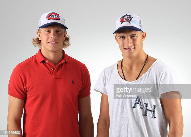 Jacob de la Rose of the Montreal Canadiens poses for an NHLPA The Players Collection portrait at the Mattamy Sports Center on August 23 2014 in...
