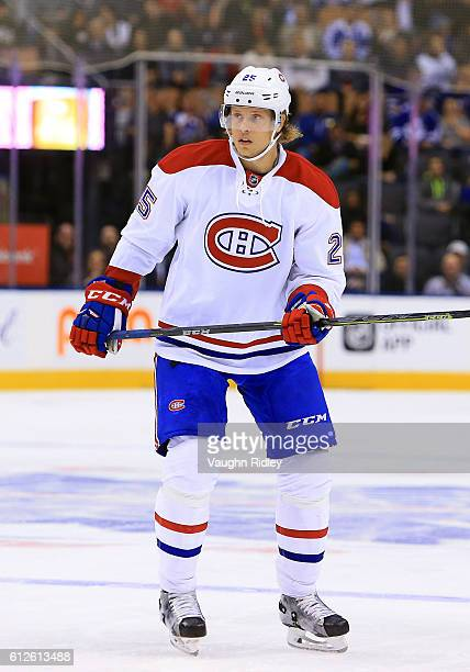 Jacob De La Rose of the Montreal Canadiens skates during an NHL preseason game against the Toronto Maple Leafs at Air Canada Centre on October 2 2016...