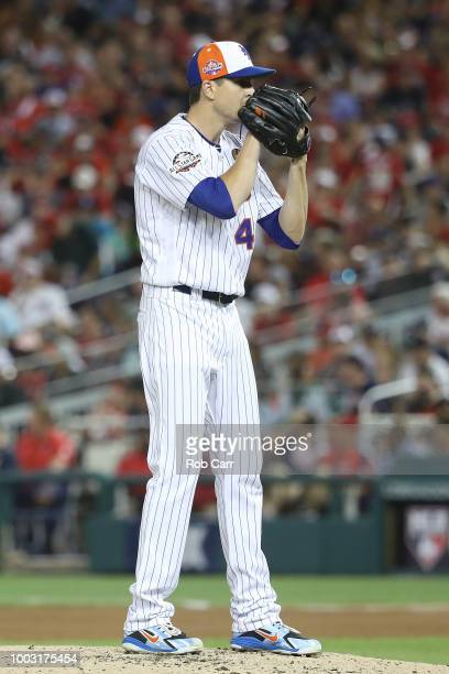 Jacob deGrom of the New York Mets pitches during the 89th MLB AllStar Game presented by Mastercard at Nationals Park on July 17 2018 in Washington DC