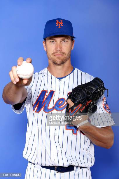 Jacob deGrom of the New York Mets poses for a photo on Photo Day at First Data Field on February 21 2019 in Port St Lucie Florida