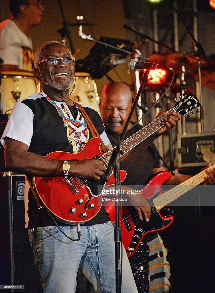 Jacob Desvarieux Of The Band Kassav Performs At The Setting The