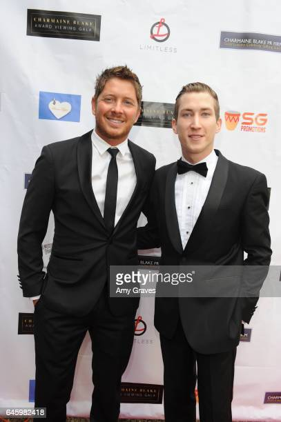 Jacob Diamond and Talon Reid attend Charmaine Blake's 2nd Annual Red Carpet Academy Awards Viewing Party Hosted By Bruno Gunn And Golden Brooks on...