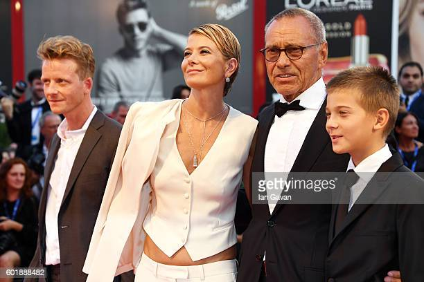 Jacob Diehl Julia Vysotskaya Andrei Konchalovsky and their son Peter attend the closing ceremony of the 73rd Venice Film Festival at Sala Grande on...