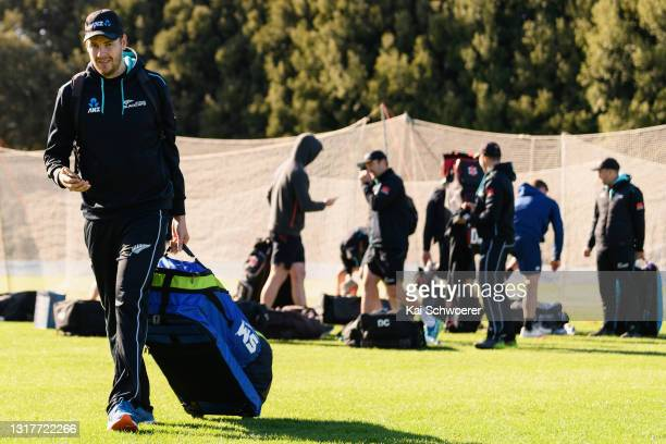 Jacob Duffy walks from the ground at the end of a New Zealand Blackcaps training session at the New Zealand Cricket High Performance Centre on May...