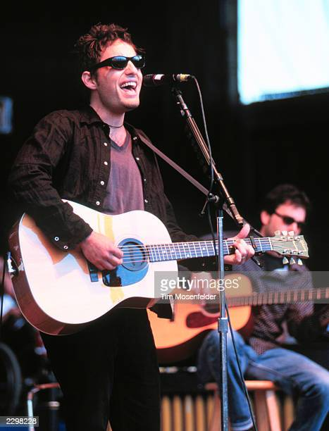 Jacob Dylan and the Wallflowers performing at Neil Young's Bridge Benefit 1998 at Shoreline Amphitheater in Mountain View Calif on October 18th 1998...