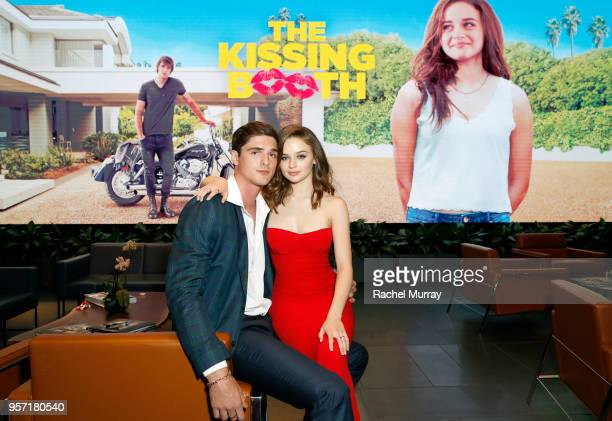 Jacob Elordi and Joey King attend a screening of 'The Kissing Booth' at NETFLIX on May 10, 2018 in Los Angeles, California.