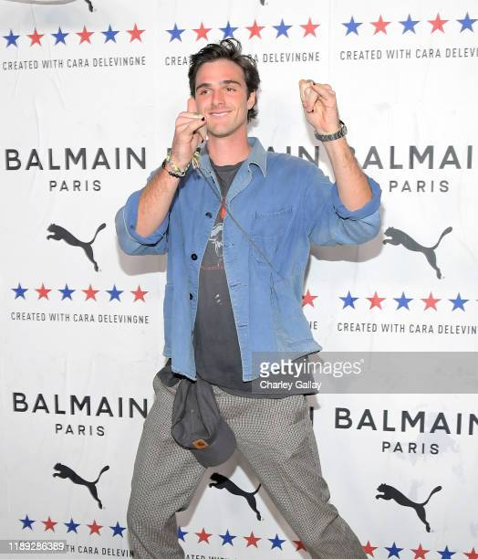 Jacob Elordi attends PUMA x Balmain created with Cara Delevingne LA Launch Event at Milk Studios on November 21 2019 in Los Angeles California
