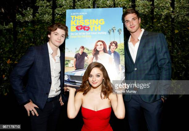 Jacob Elordi, Joey King and Joel Courtney attend a screening of 'The Kissing Booth' at NETFLIX on May 10, 2018 in Los Angeles, California.