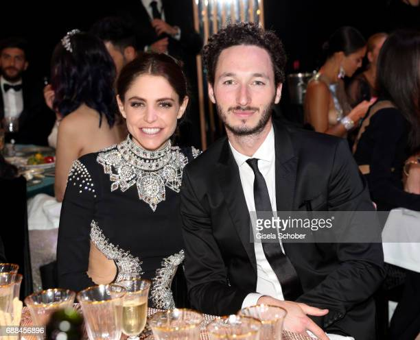 Jacob Epstein and Gloria Dieth sister of Philipp Pleinattends the amfAR Gala Cannes 2017 at Hotel du CapEdenRoc on May 25 2017 in Cap d'Antibes France