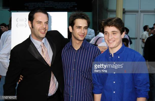 """Jacob Estes, Scott Mechlowicz and Trevor Morgan during """"Mean Creek"""" Los Angeles Premiere - Arrivals at Arclight Cinemas in Hollywood, California,..."""