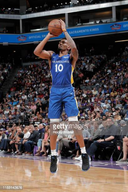 Jacob Evans of Golden State Warriors shoots the ball against the Sacramento Kings on July 1, 2019 at the Golden 1 Center, in Phoenix, Arizona. NOTE...