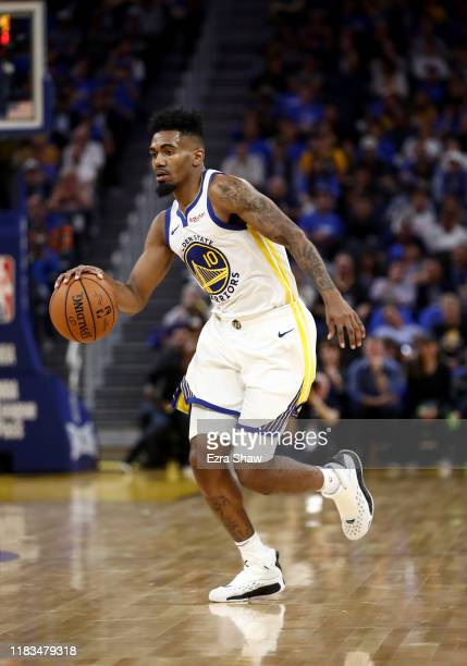 Jacob Evans of the Golden State Warriors in action against the LA Clippers at Chase Center on October 24, 2019 in San Francisco, California. NOTE TO...