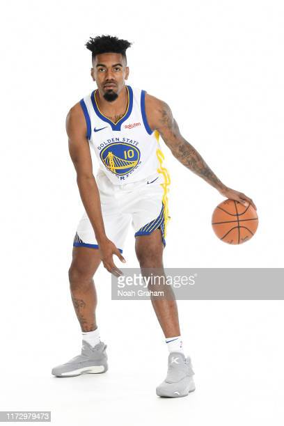 Jacob Evans of the Golden State Warriors poses for a portrait during media day on September 30, 2019 at the Biofreeze Performance Center in San...