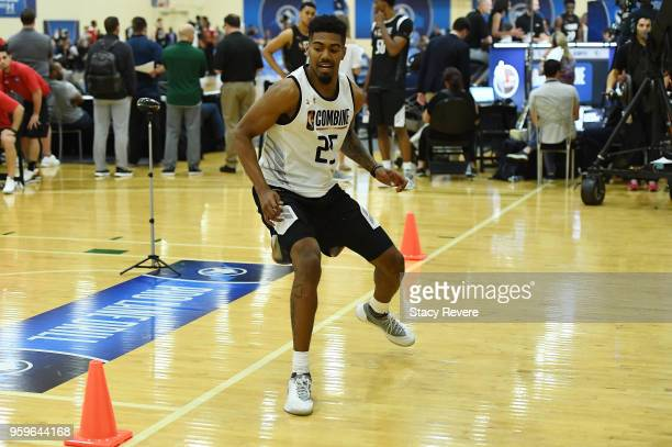 Jacob Evans participates in drills during Day One of the NBA Draft Combine at Quest MultiSport Complex on May 17 2018 in Chicago Illinois NOTE TO...