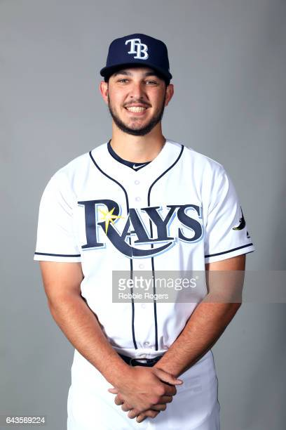 Jacob Faria of the Tampa Bay Rays poses during Photo Day on Saturday February 18 2017 at Charlotte Sports Park in Port Charlotte Florida