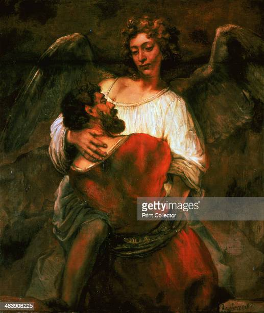 'Jacob Fights the Angel' 1660 From the Gemaldegalerie Staatliche Museen Berlin