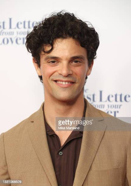 """Jacob Fortune Lloyd attends """"The Last Letter From Your Lover"""" UK premiere at Ham Yard Hotel on July 27, 2021 in London, England."""