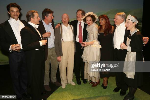 Jacob FortuneLloyd Anthony Calf Gus Christie Roger Allam David Hare Nancy Carroll Danielle de Niese Paul Jesson and Jade Williams pose backstage...