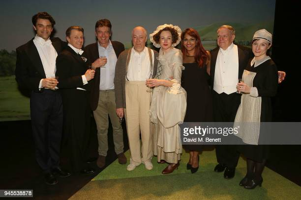 Jacob FortuneLloyd Anthony Calf Gus Christie Roger Allam Nancy Carroll Danielle de Niese Paul Jesson and Jade Williams pose backstage following the...