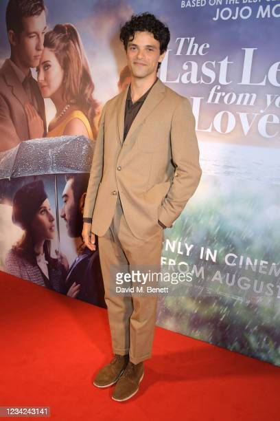 """Jacob Fortune-Lloyd attends the UK Premiere of """"The Last Letter From Your Lover"""" at The Ham Yard Hotel on July 27, 2021 in London, England."""