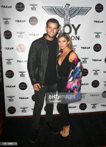 Jacob Fowler and Anna Marie Dobbins attend BOY London hosts preFashion Week party with Vulkan Magazine and Art Hearts Fashion at BOY London Flagship...