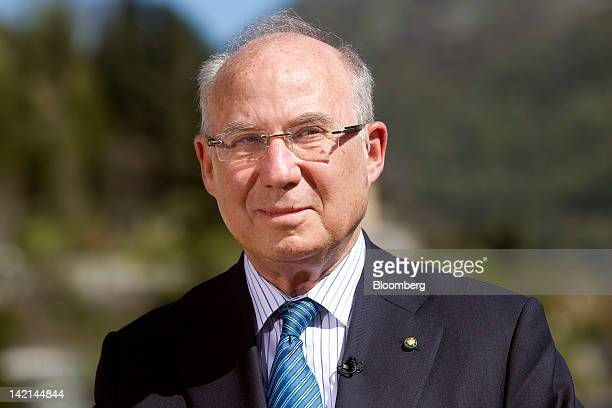 Jacob Frenkel, chairman of JPMorgan Chase International, pauses during a television interview at the Ambrosetti Workshop in Cernobbio, near Como,...