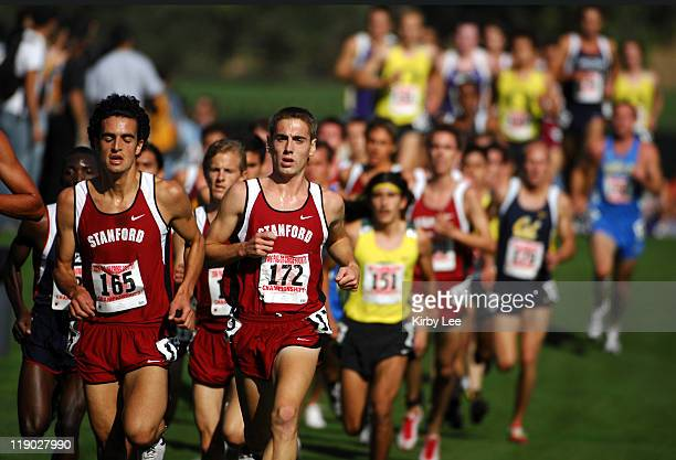Jacob Gomez and Jonathan Pierce of Stanford during the men's 8000 meter race in the Pacific10 Conference Cross Country Championships at Stanford Golf...