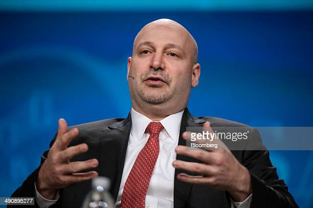 Jacob Gottlieb, chief investment officer of Visium Asset Management, speaks during the SkyBridge Alternatives conference in Las Vegas, Nevada, U.S.,...