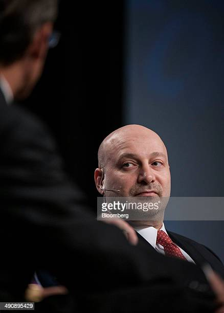 Jacob Gottlieb, chief investment officer of Visium Asset Management, listens during the SkyBridge Alternatives conference in Las Vegas, Nevada, U.S.,...