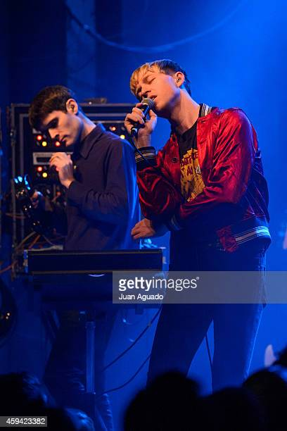 Jacob Graham and Jonathan Pierce of The Drums perform on stage at Sala Arena on November 22, 2014 in Madrid, Spain.