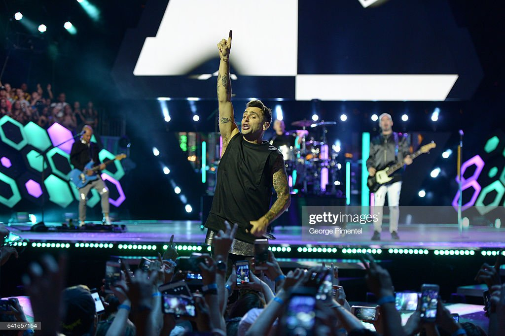 Jacob Hoggard of Hedley performs at the 2016 iHeartRADIO MuchMusic Video Awards at MuchMusic HQ on June 19, 2016 in Toronto, Canada.