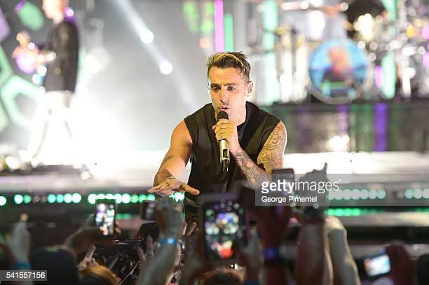 Jacob Hoggard of Hedley performs at the 2016 iHeartRADIO MuchMusic Video Awards at MuchMusic HQ on June 19 2016 in Toronto Canada