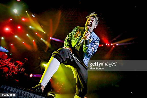 Jacob Hoggard of Hedley performs at the Canadian Tire Centre on April 23 2016 in Ottawa Canada