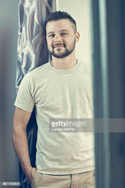 Jacob Hunt for documentary 'Coby' is photographed for Self Assignment during the 70th annual Cannes Film Festival at Palais des Festivals on May 22...