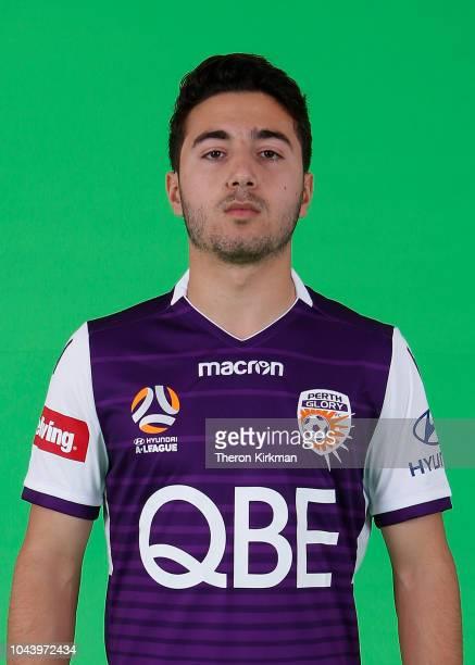 Jacob Italiano poses during the 2018/19 Perth Glory ALeague season headshots session at Glory HQ on September 21 2018 in Perth Australia