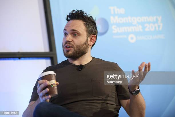 Jacob Jaber chief executive officer of Philz Coffee Inc speaks during the Montgomery Summit in Santa Monica California US on Thursday March 9 2017...
