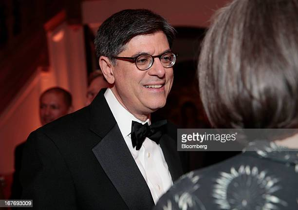 Jacob Jack Lew US treasury secretary attends the Bloomberg Vanity Fair White House Correspondents' Association dinner afterparty in Washington DC US...