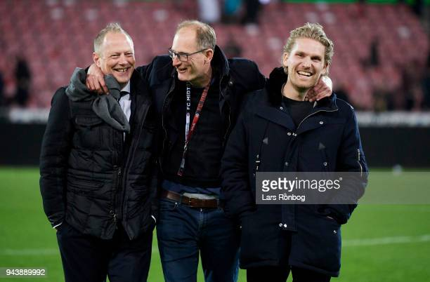 Jacob Jorgensen commercial director of FC Midtjylland Svend Graversen director of football of FC Midtjylland Rasmus Ankersen head of the board of FC...