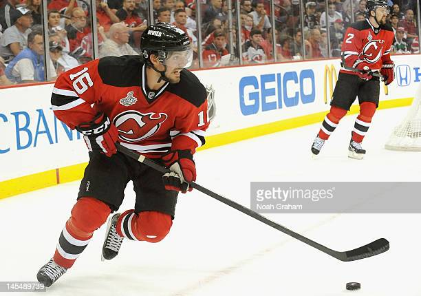 Jacob Josefson of the New Jersey Devils plays during the third period of Game One of the 2012 Stanley Cup Final against the Los Angeles Kings at the...