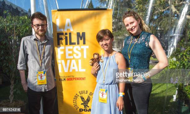 Jacob Kafka Ema Ryan Yamazaki and Annie Bush attend the Women Filmmakers Event during 2017 Los Angeles Film Festival at Festival Lounge on June 16...