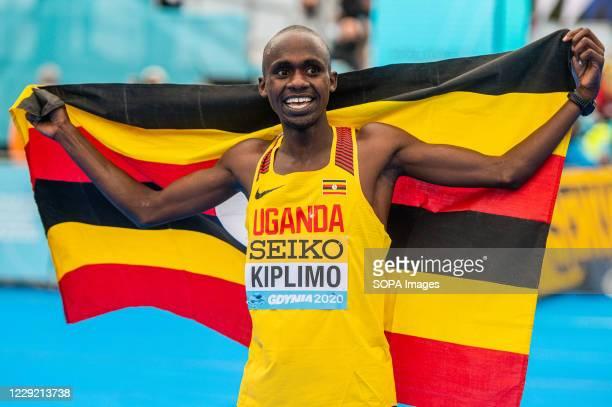 Jacob Kiplimo of Uganda after his win during 2020 IAAF World Half Marathon Championships in Gdynia