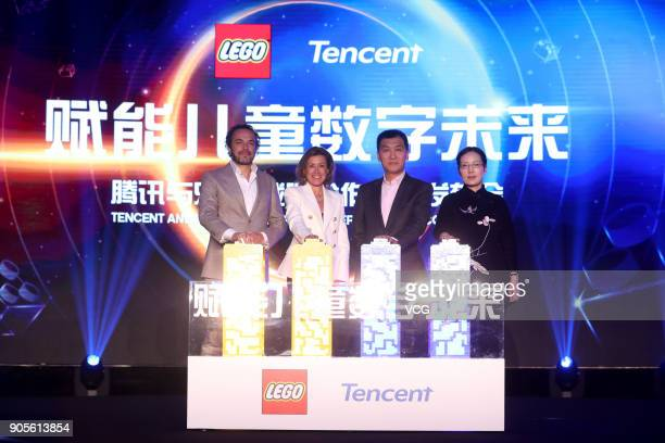 Jacob Kragh General Manager of LEGO China Julia Goldin Chief Marketing Officer of the LEGO Group Thirty Sun Vice President of Tencent and Anna Gao...