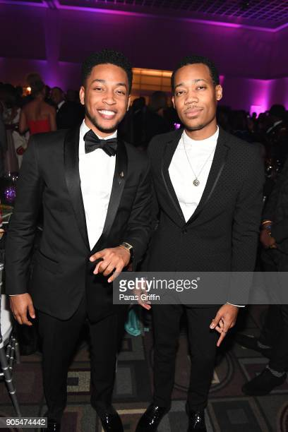 Jacob Latimore and Tyler James Williams attend 49th NAACP Image Awards After Party at Pasadena Civic Auditorium on January 15 2018 in Pasadena...
